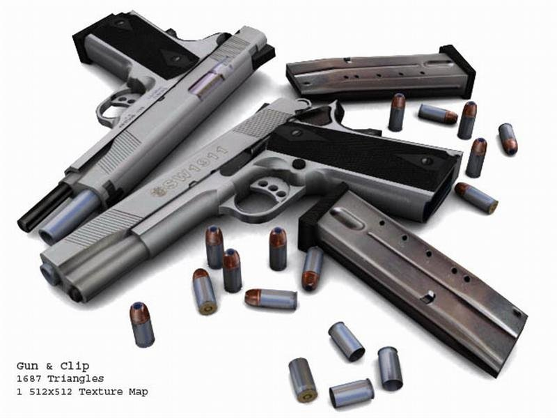 SW1911_Gun__Clip_and_Amo (Medium)