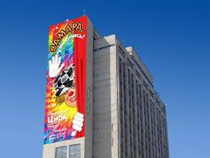 В Мариуполе появился новый вид рекламы, фото-1