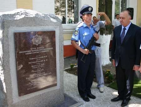 Министр внутренних дел открыл памятник в городе, фото-1
