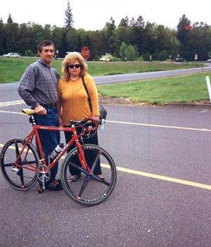 Александр Ревякин с женой Ириной.<br>США 1999 год.