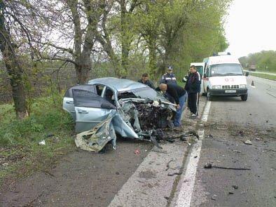 Авария на трассе Донецк - Мариуполь (фото), фото-1