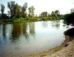 На поверхности воды в реке под Мариуполем обнаружили неизвестное пятно красного цвета, фото-1