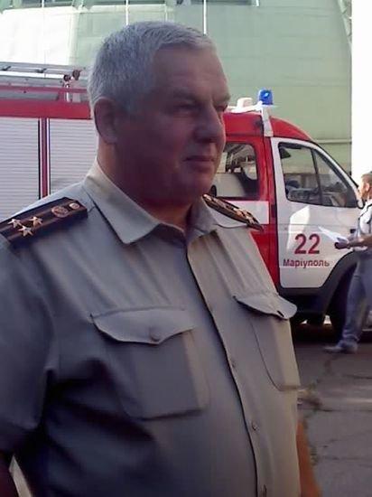 Начальник управления МЧС в Мариуполе Николай Ушкалов