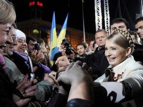 Юлия Тимошенко после выдвижения в президенты на Майдане 24 октября