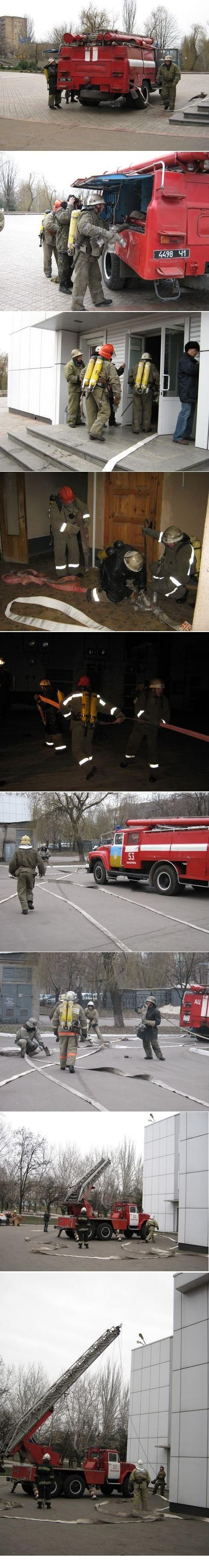 В Мариуполе тушили Дворец металлургов (ФОТО), фото-1