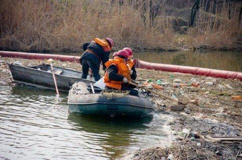Кальмиус захлебывается от бытового мусора. Но спасатели нашлись (ФОТО), фото-1