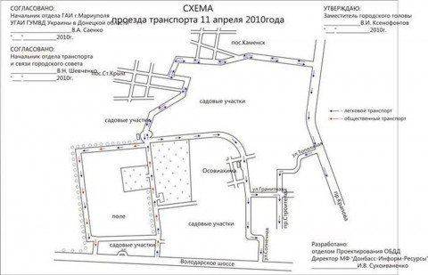 Схема проезда к Старокрымскому кладбищу