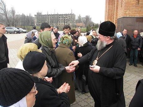 В Мариуполе  встречали митрополита Илариона