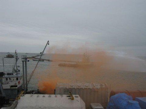 В результате аварии в Азовское море вылилась тонна нефти (ФОТО), фото-1