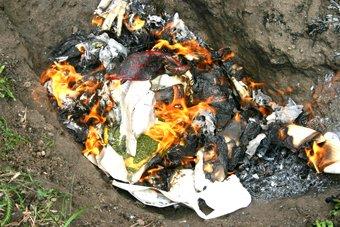 Мариупольская милиция сожгла 20 килограммов  наркотиков (ФОТО), фото-1