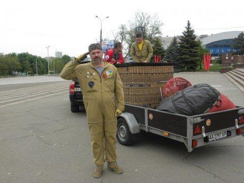 В Мариуполь прибыли известный украинский воздухоплаватель Сергей Скалько вместе  с российским коллегой Леонидом Тюхтяевым.