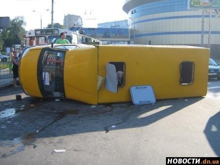 В Донецке перевернулся автобус с курортниками, направлявшимися на Азовское побережье (ФОТО), фото-1