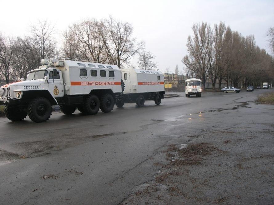 Днепропетровские спасатели учились «ходить» колонной и развертывать пункты обогрева (Фото), фото-1