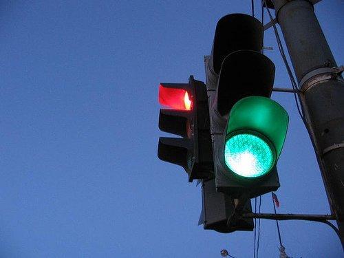 светофор двойной нерабочий
