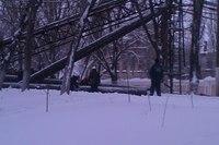 Упавшая эстакада около «Стирола» создала аварийную ситуацию на дороге, фото-1