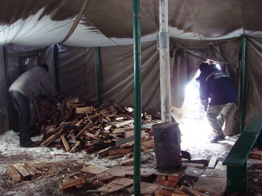 Артемовские бомжи перебираются в пункт обогрева, фото-2