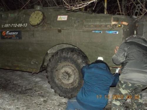 В Днепропетровск ввели военную технику, чтобы... бороться с гололедом (ФОТО), фото-1