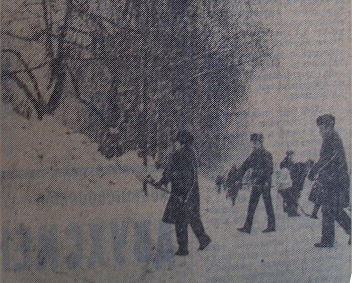 снежная зима1987