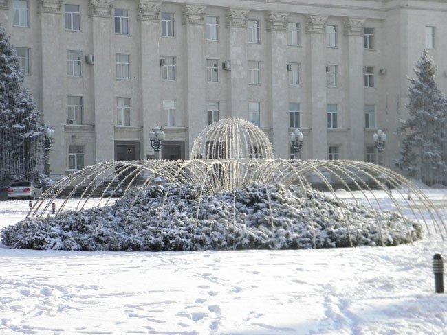 снег херсон
