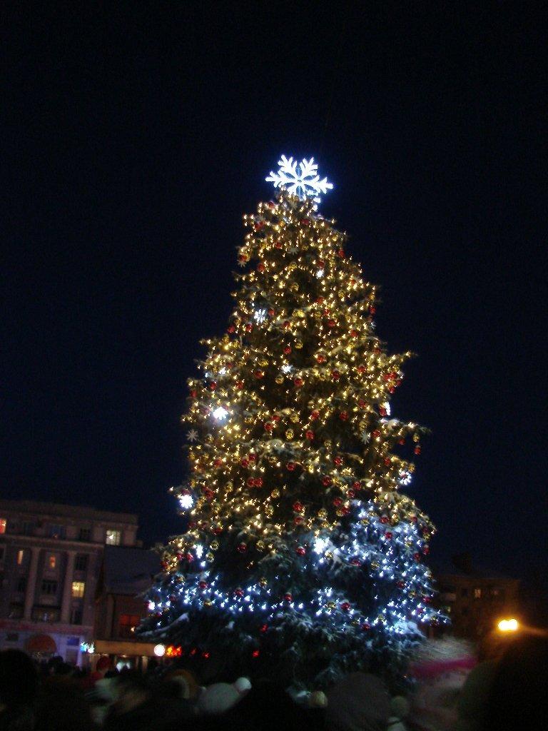 Главная елка Артемовска засверкала новыми огнями, фото-1