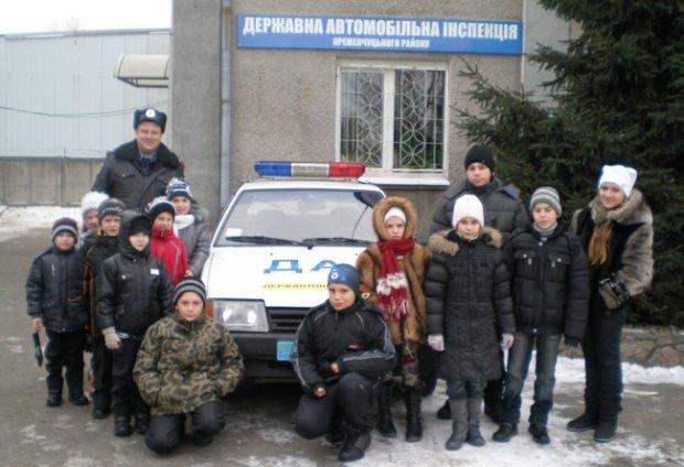 Сотрудники Кременчугского районного отделения ГАИ устроили школьникам праздник, фото-1