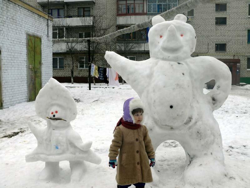 снежная скульптура1