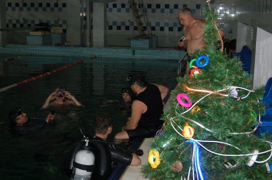 Мариупольские дайверы установили новогоднюю елку на дне плавбассейна «Нептун» (ФОТО), фото-2