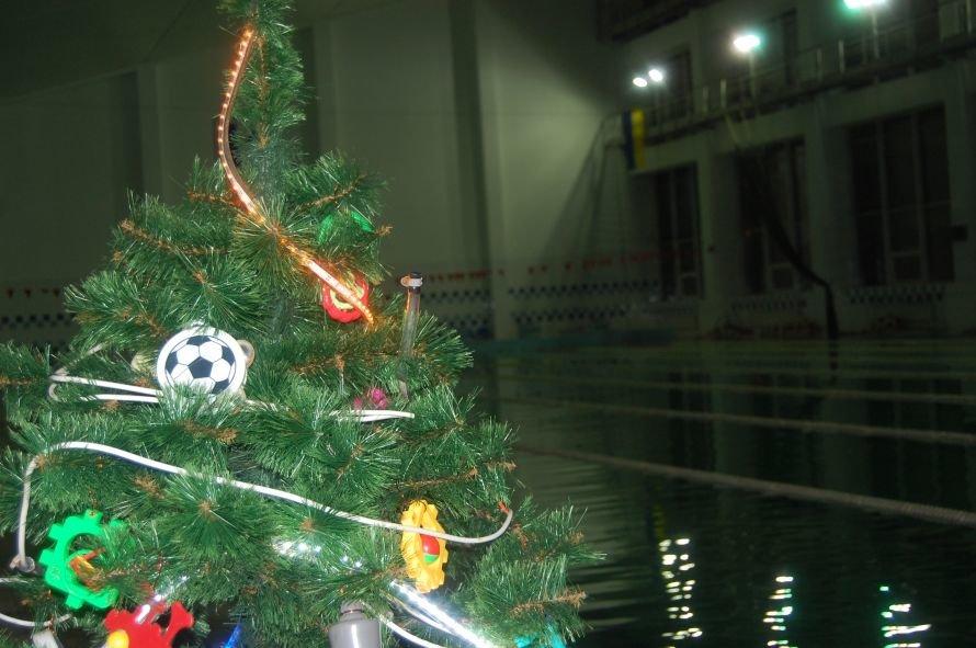 Мариупольские дайверы установили новогоднюю елку на дне плавбассейна «Нептун» (ФОТО), фото-1