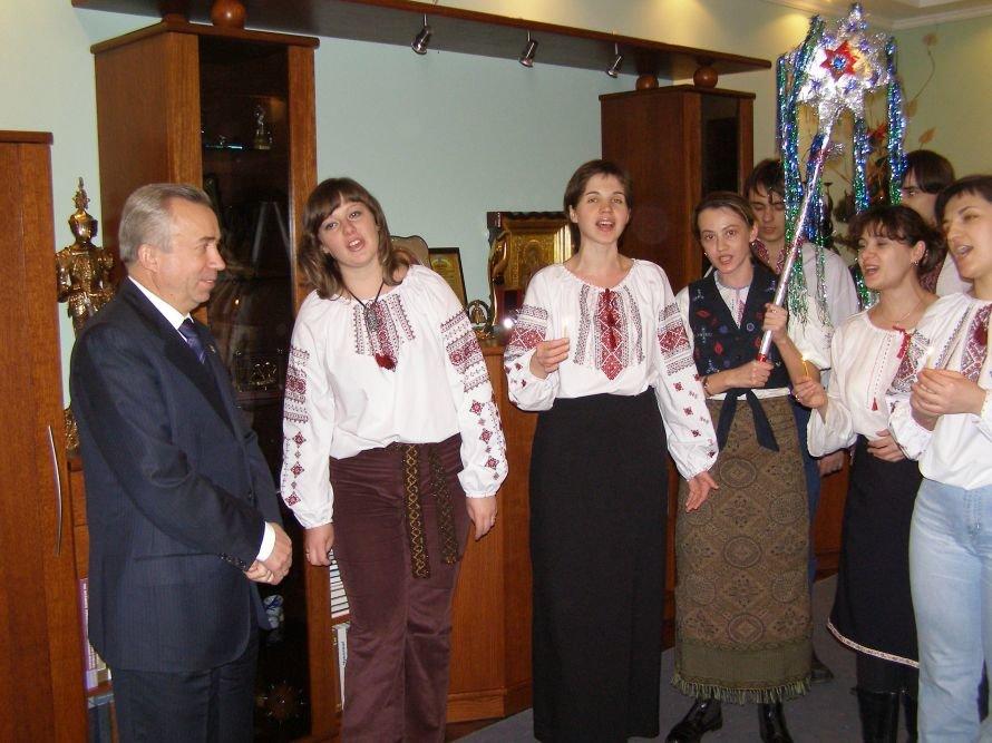 Как колядовали в кабинете мэра Донецка (фотохроника прошлых лет), фото-1