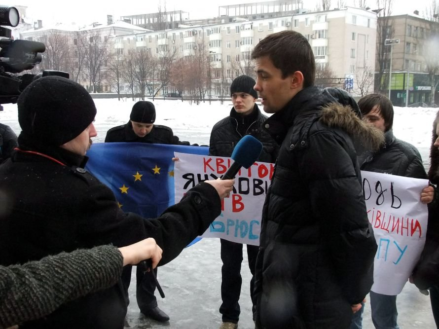 В Донецке протестовали против присоединения Украины к Таможенному союзу (фото), фото-3