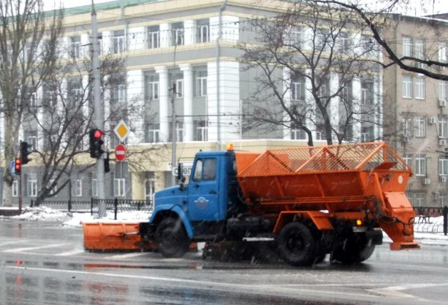 Оттепель превратила улицы Донецка в мокрую «снежную кашу» (фото), фото-1