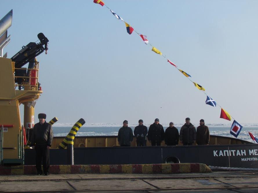 В мариупольском порту подняли государственный флаг на двух новых буксирах (ФОТО), фото-1