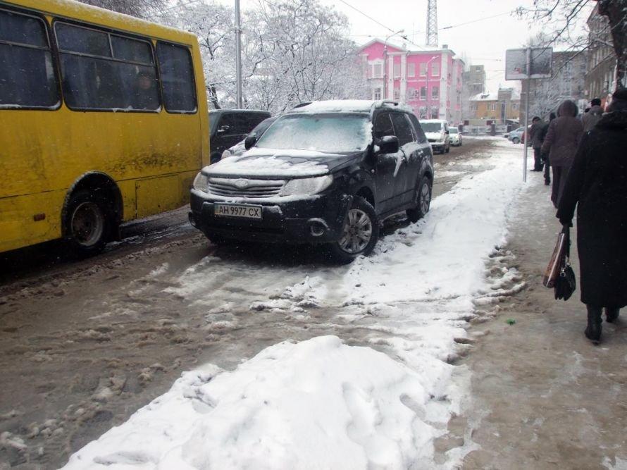 Зима вновь берет Донецк в свои цепкие объятия (фоторепортаж), фото-2