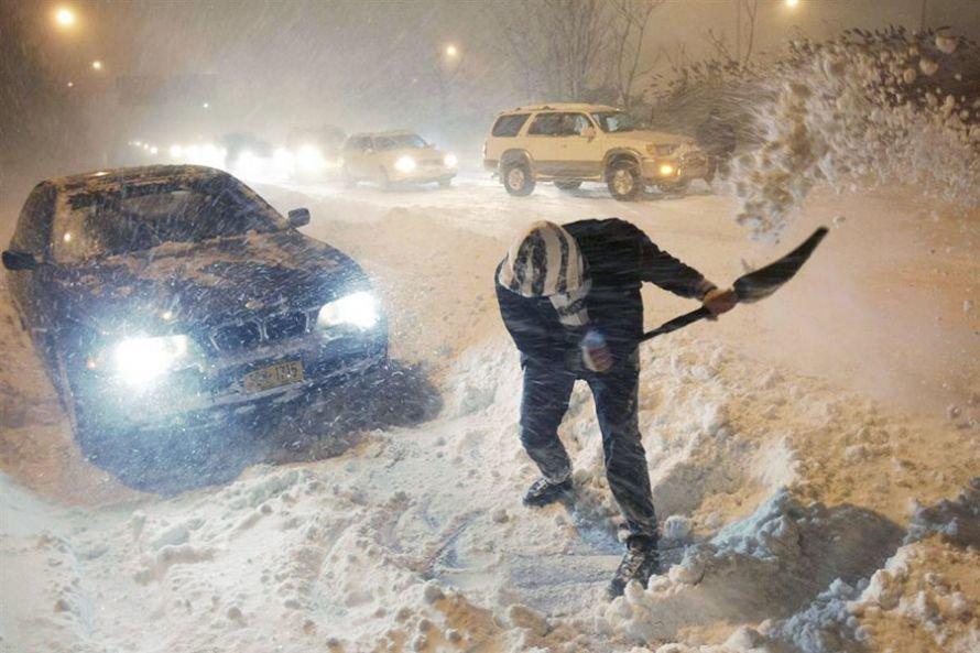 На Украину надвигается снежная буря, фото-1