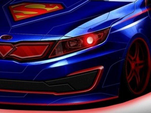 Супермен отправится спасать Африку от голода и засухи на своём новом седане Optima от Kia, фото-1