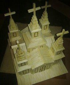 Церкви, фортеці та стадіони із… сірників – неординарний талант тернопільського студента (фото), фото-1