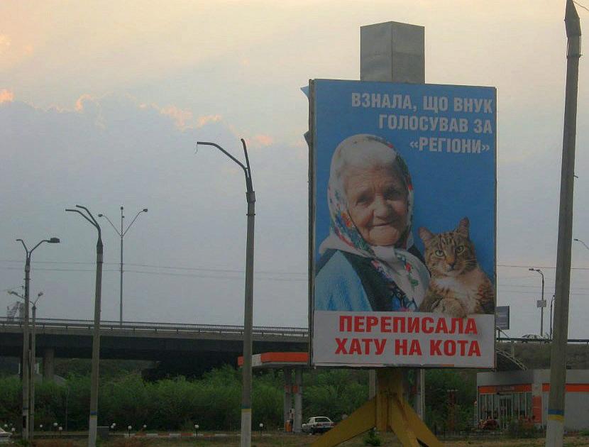 Судьи оправдали автора билборда с бабушкой и котом, фото-1