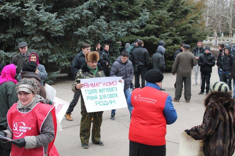 Вчера коммунисты провели пикет и в Чаплинке (ФОТО), фото-1