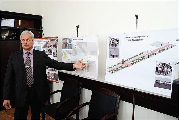 Городской голова Александр Бартенев презентовал проекты благоустройства Музейной площади и проспекта Айвазовского в Феодосии, фото-1