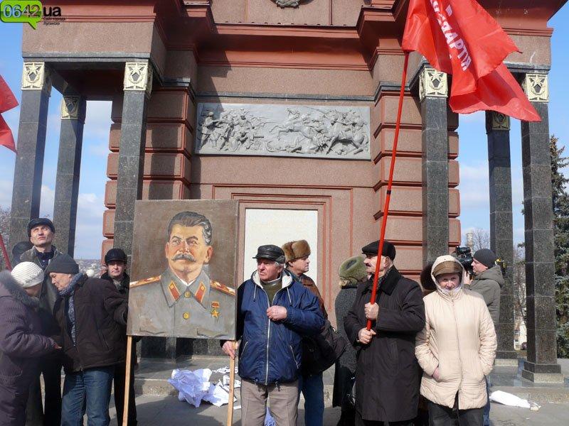 «Сало можете сожрать, а вот Сталин вам не по зубам!» (ФОТО, ВИДЕО), фото-5
