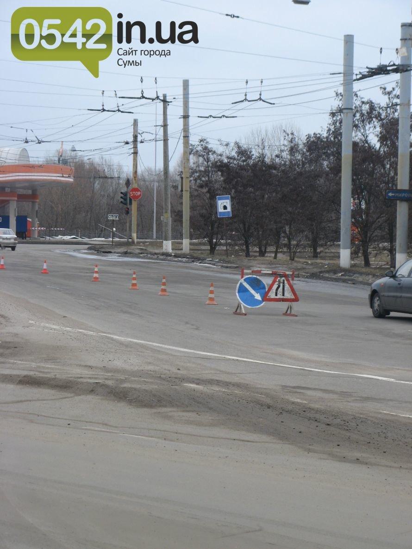 В Сумах, из-за аварии водопровода,  ограничили движение транспорта, фото-1