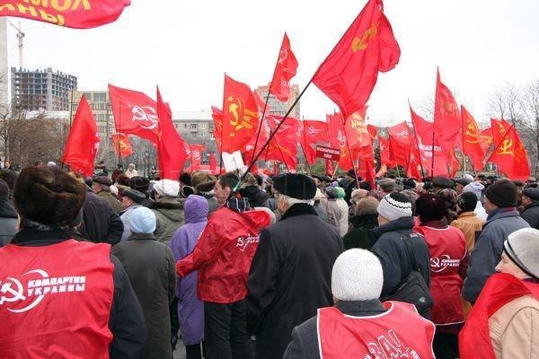 Горловские коммунисты требовали в Донецке пресечь вылазки экстремистов «Свободы», фото-6