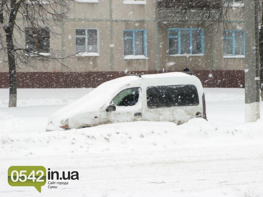 Сумы из последних сил борются со снегопадом, фото-1