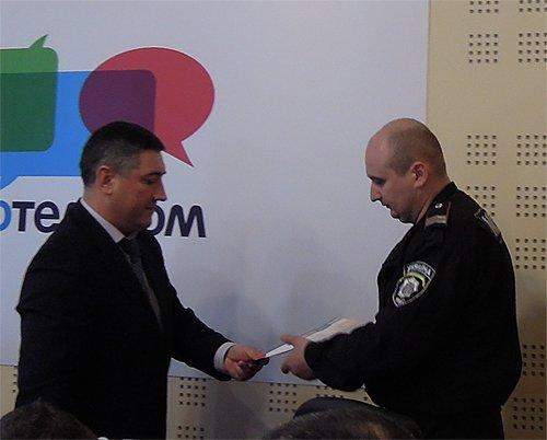 Связисты поблагодарили милиционеров за работу, фото-1