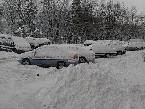 машины и снег 2