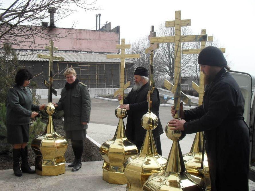 В Днепродзержинскую колонию привезли церковные купола, фото-2