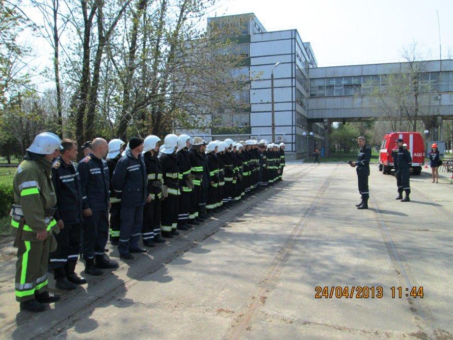 ФОТОРЕПОРТАЖ: На Запорожской ТЭС спасатели провели учения, фото-4
