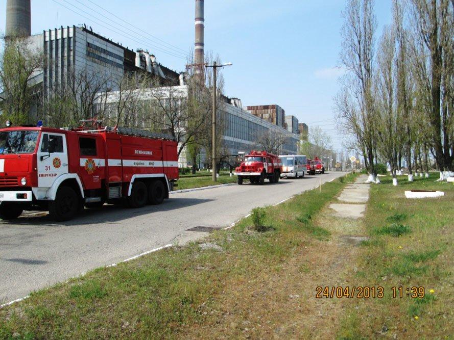 ФОТОРЕПОРТАЖ: На Запорожской ТЭС спасатели провели учения, фото-3