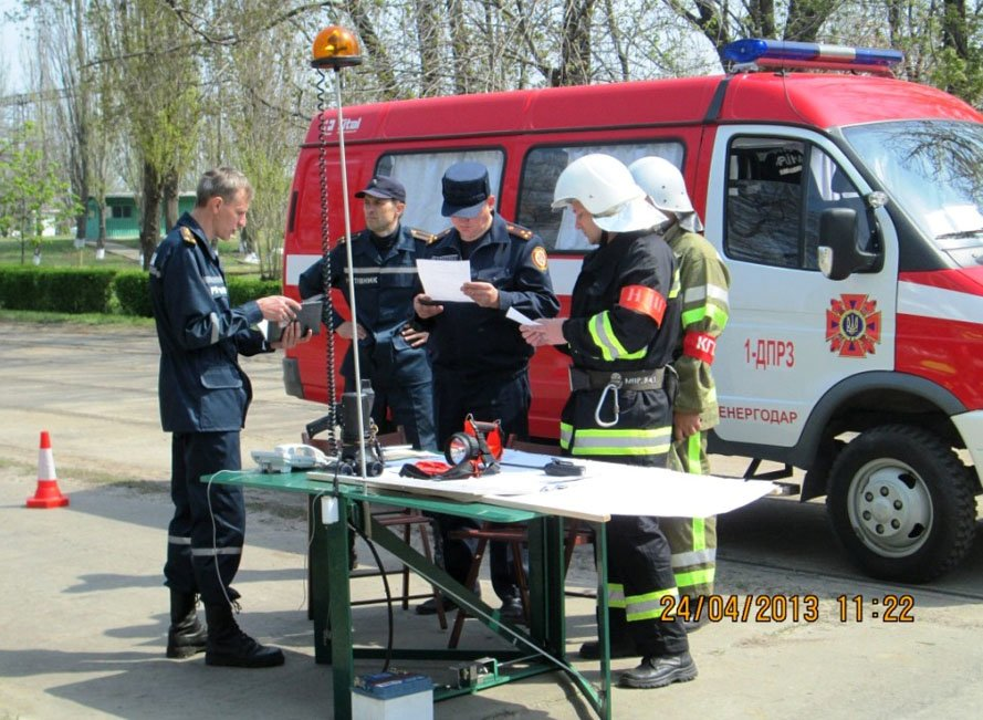 ФОТОРЕПОРТАЖ: На Запорожской ТЭС спасатели провели учения, фото-5