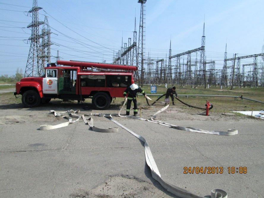 ФОТОРЕПОРТАЖ: На Запорожской ТЭС спасатели провели учения, фото-6